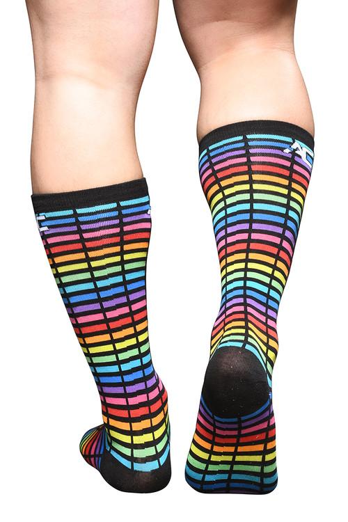 Andrew Christian Digital Paradise Pride Socks 8572 - Mens Socks - Rear View - Topdrawers Clothing for Men