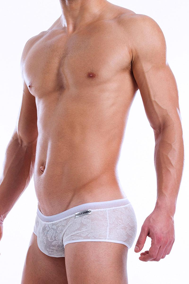 e4d5ccb9bed10 ... White - Modus Vivendi Lacenet Brazil Cut Boxer 08613 - Side View -  Topdrawers Underwear for ...