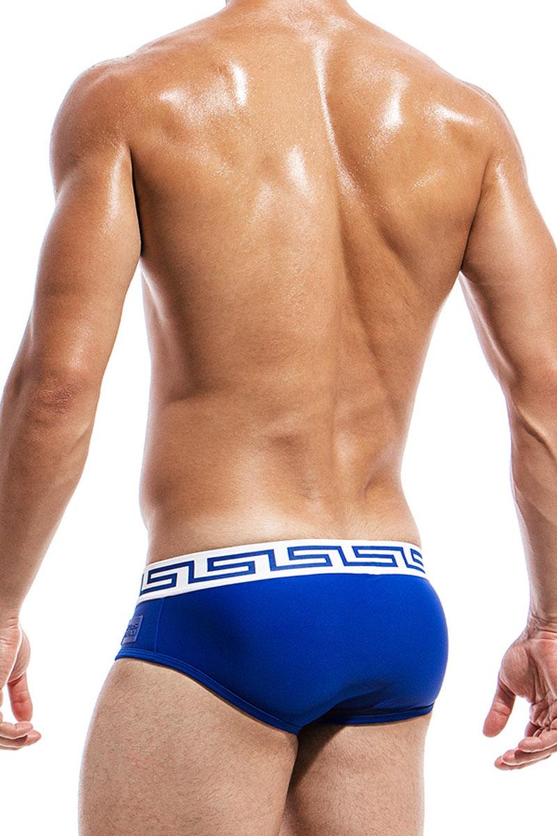 dd832da400267 ... Blue - Modus Vivendi Meander Swim Brief DS1811 - Rear View - Topdrawers  Swimwear for Men