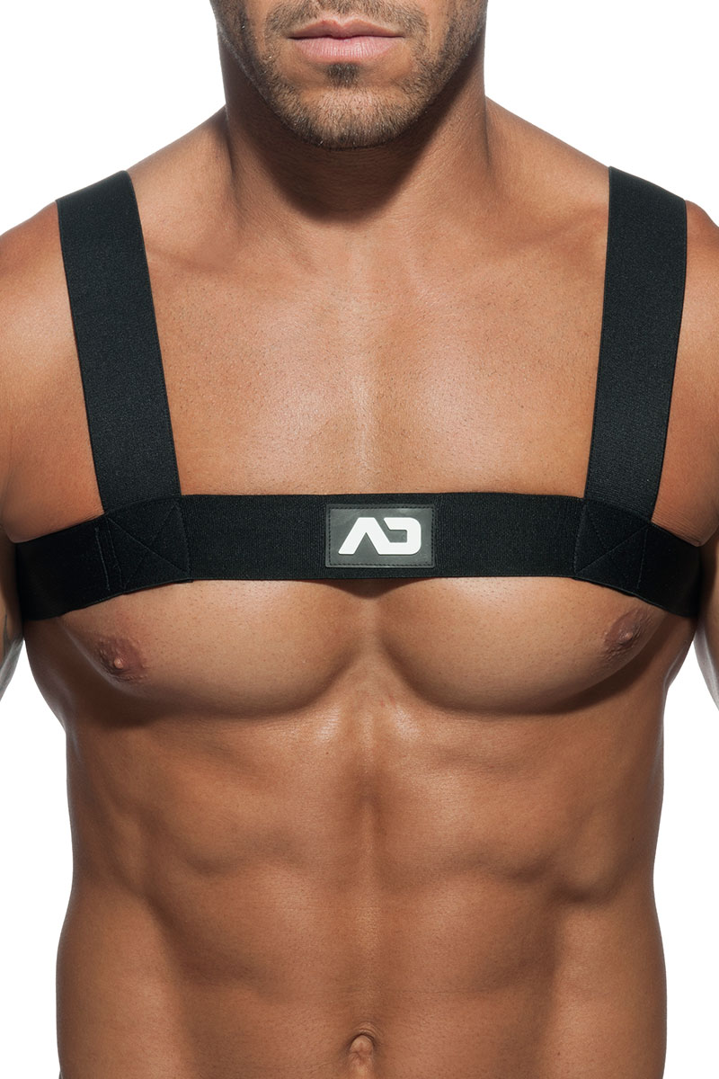 748b39c6621e0 10 Black - Addicted Basic Elastic Harness ADF104 - Front View - Topdrawers  Underwear for Men ...