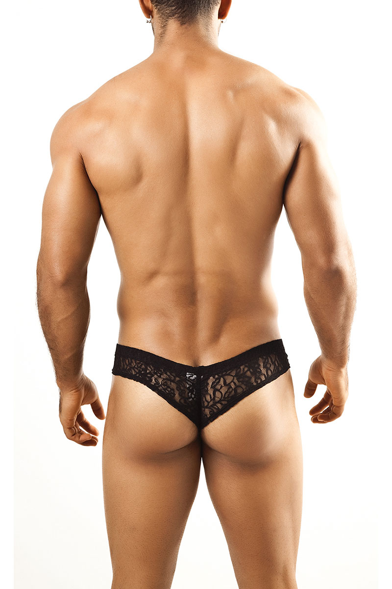 ... Black Lace - Joe Snyder Mini Cheek Thong JS22 - Rear View - Topdrawers  Underwear for 77afbf0c0
