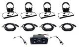 4 Person Intercom Kit w/ Headsets