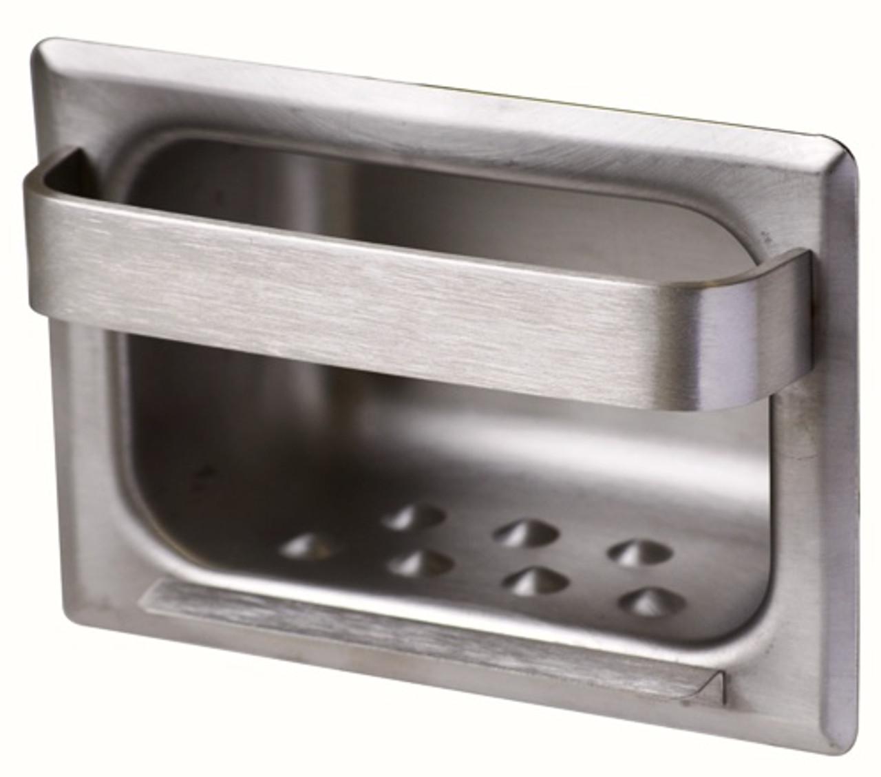 "Lot of 1,C-2-D Bobrick Soap Dish 4-1//2/""W x 2/""H Satin"
