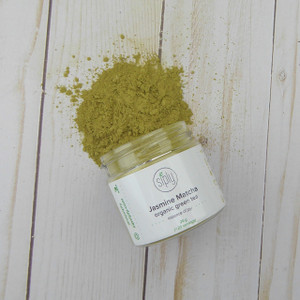 Jasmine Matcha - finely ground organic  green tea and jasmine petals