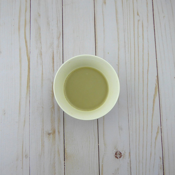 Jasmine Matcha latte made with coconut milk
