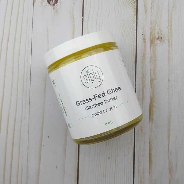 Grassfed Ghee made from grass-fed, grass-finished dairy