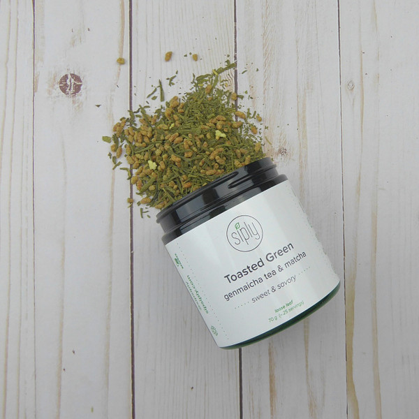 Toasted Green - classic Japanese blend of sencha, toasted rice and matcha