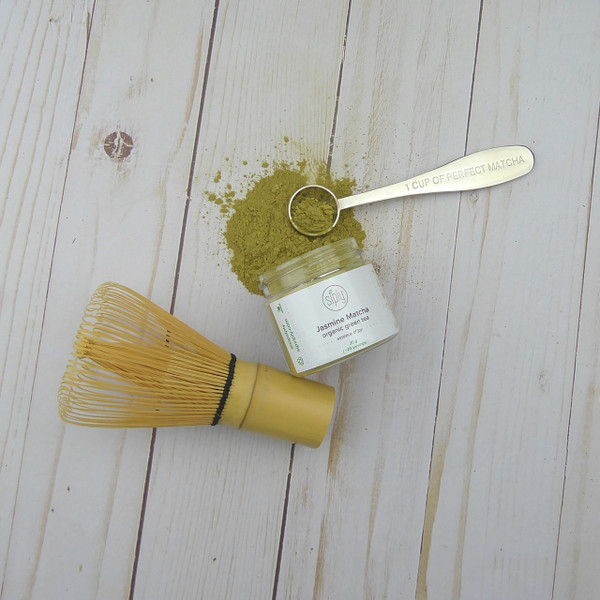 Jasmine Matcha + perfect matcha spoon + matcha whisk