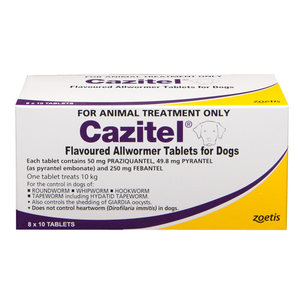 Cazitel Flavoured Allwormer Tablets for Dogs up to 10 kg -  80 Tablets