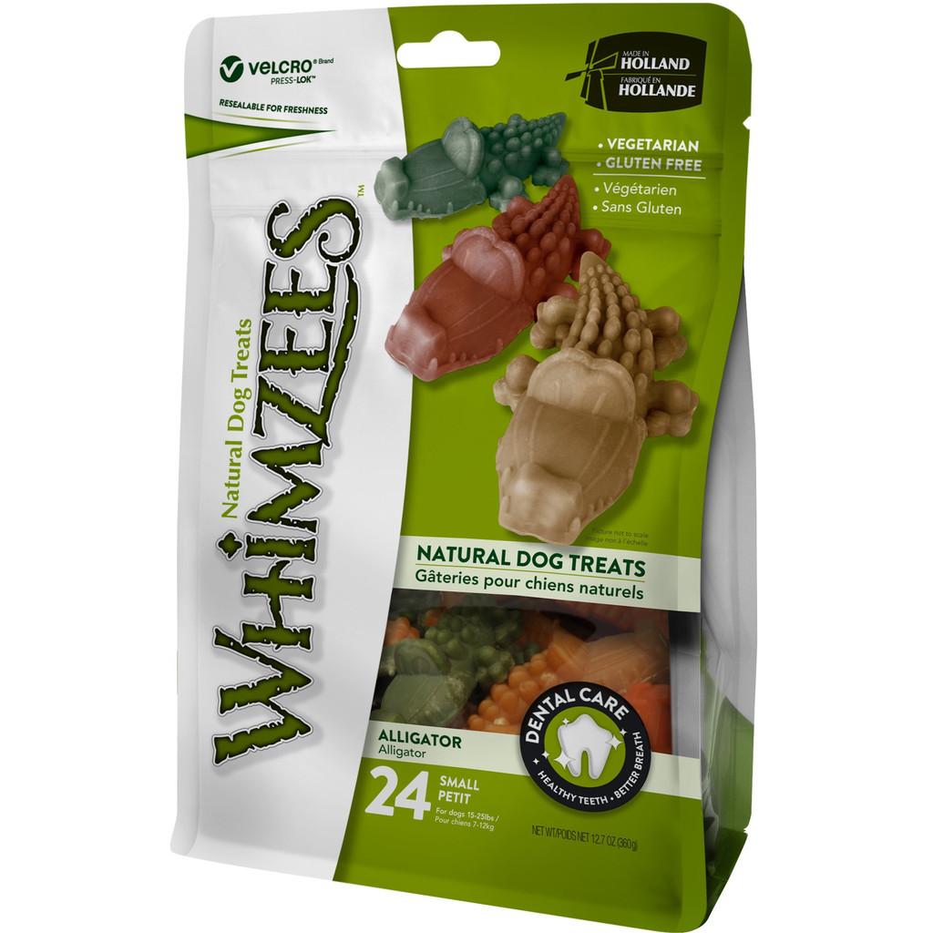 Whimzees Alligator Dog Dental Treats - Small 24pk