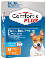Comfortis PLUS for Dogs 4.5-9 kg - Orange 6 Pack