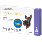 Revolution for Dogs up to 5 kg - Purple 3 Pack with Bonus Canex Worming Tablets
