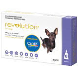 Revolution for Dogs up to 5 kg - Purple 6 Pack with Bonus Canex Worming Tablets
