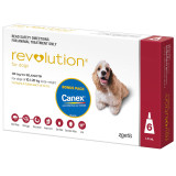 Revolution for Dogs 10.1-20 kg - Red 6 Pack with Bonus Canex Worming Tablets