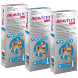 Bravecto PLUS Spot On for Cats 2.8-6.25 kg - Blue 3 Doses