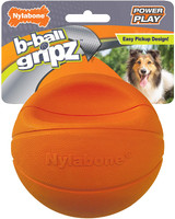 Nylabone Power Play Dog Basketball B-Ball Gripz 17cm