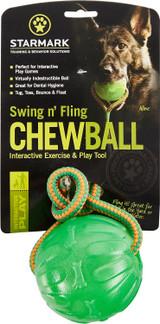 Starmark Swing n' Fling Chew Ball Medium Large Toy For Dogs