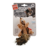 GiGwi Catch & Scratch Chipmunk with Catnip Cat Toy
