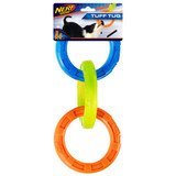 NERF DOG TPR 3 Ring Tug Blue,Green,Orange 29cm