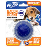 NERF DOG Scentology Ball, Bacon Scent, Clear/Blue 6.5cm