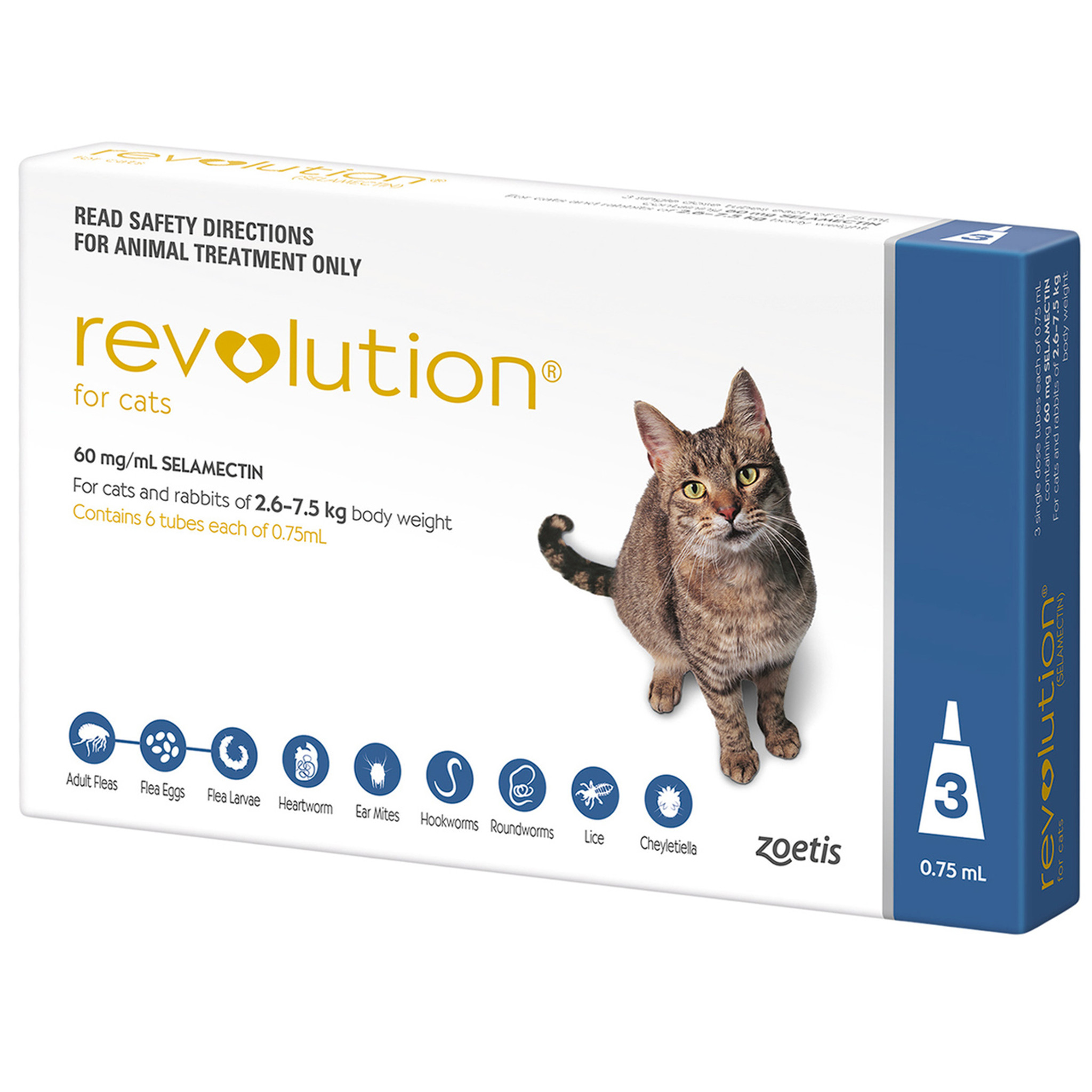 Revolution For Cats 2 6 7 5kg Blue 3 Pack Sierra Pet Products Australia