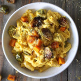 Recipe: Roasted Brussels Sprouts & Butternut Mac & Cheese