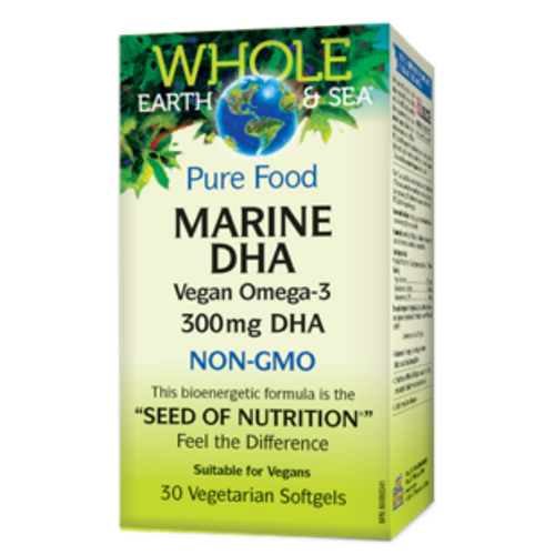 Whole Earth & Sea: Pure Food Marine DHA (30vcap)