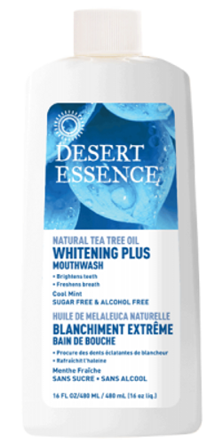 Desert Essence: Tea Tree Oil Whitening Plus Mouthwash Cool Mint (480ml)