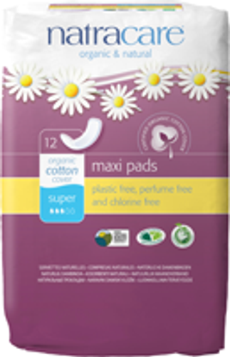 Natracare: Super Pads (12 Count)