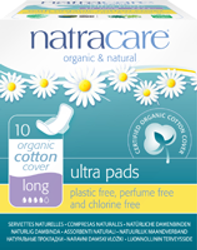 Natracare: Long Ultra Pads (10 Count)