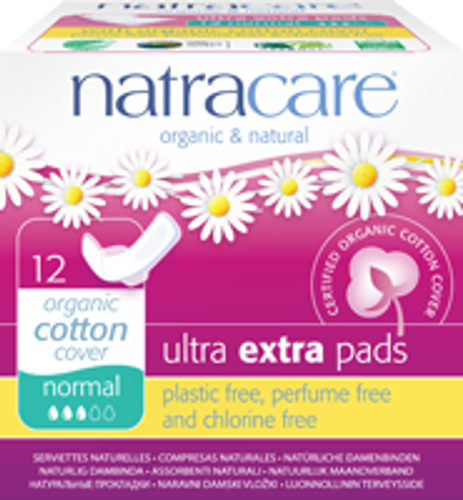 Natracare: Normal Ultra Extra Pads (12 Count)