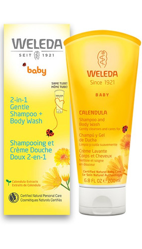 Weleda: Baby 2 in 1 Gentle Shampoo & Body Wash (200ml)