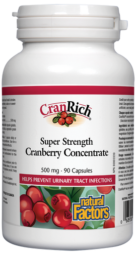 Natural Factors: CranRich Cranberry Concentrate Super Strength (500mg) (90 Capsules)