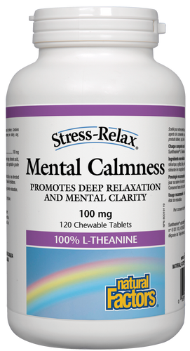 Natural Factors: Stress-Relax Mental Calmness (120 Chewables)