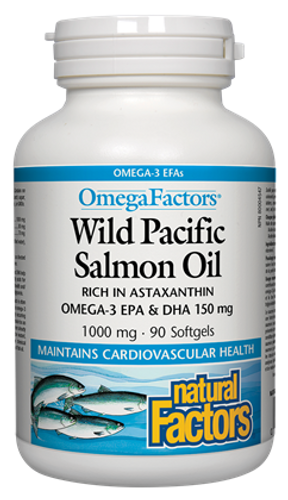 Natural Factors Wild Pacific Salmon Oil (1000mg) (90 SoftGels)