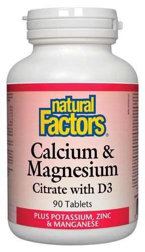 Natural Factors: Calcium & Magnesium Citrate with D3 (90 Tablets)