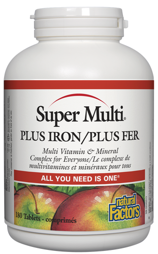 Natural Factors: Super Multi Plus Iron (180 Tablets)