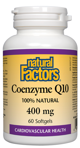 Natural Factors: Coenzyme Q10 (400mg) (60 SoftGels)