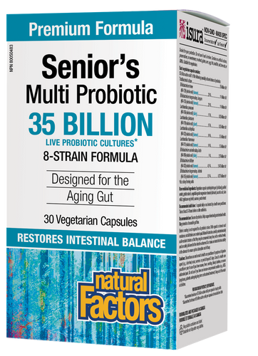 Natural Factors: Senior's Multi Probiotic (30 Vegetarian Capsules)