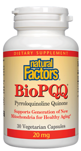 Natural Factors: BioPQQ (20mg) (30 Vegetarian Capsules)