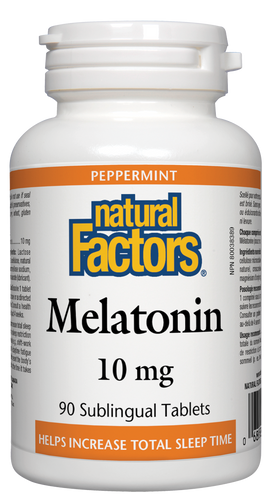 Natural Factors: Melatonin (10mg) (90 Sublingual Tablets)