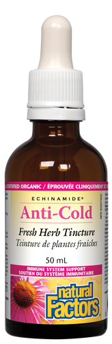 Natural Factors: Echinamide Anti-Cold Fresh Herb Tincture (50ml)