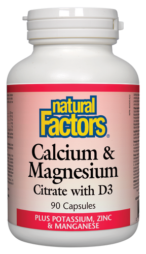 Natural Factors: Calcium & Magnesium Citrate With D3 (90 Capsules)