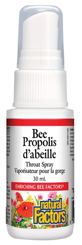 Natural Factors: Bee Propolis Throat Spray (30ml)