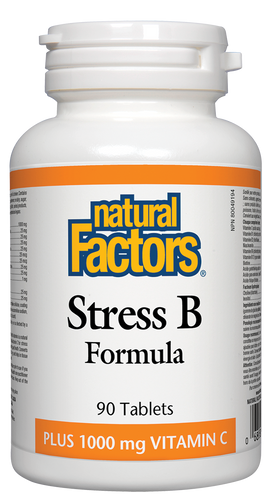 Natural Factors: Stress B Formula Plus 1000 mg Vitamin C (90 Tablets)