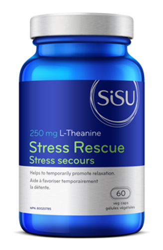 Sisu: Stress Rescue (250mg L-Theaine) (60 Vegetarian Capsules)