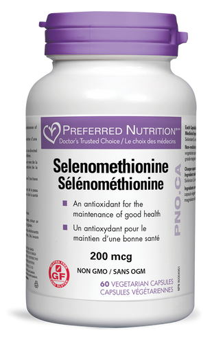 Preferred Nutrition Inc.: Selenomethionine (60 Vegetable Capsules)