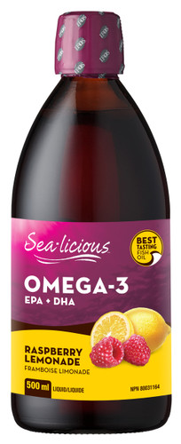 Sea-Licious Omega-3 Raspberry Lemonade 500ml