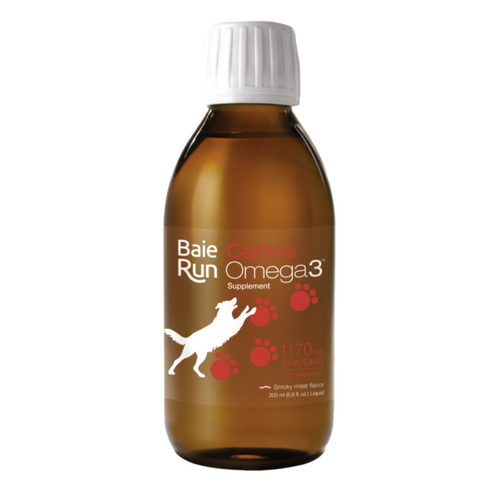 Baie Run: Canine Omega 3 Smoky Meat Flavor (200ml)
