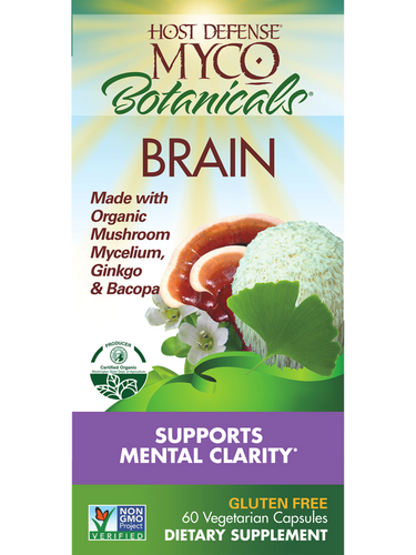 Host Defense: MycoBotanicals - Brain (60 Vegetarian Capsules)